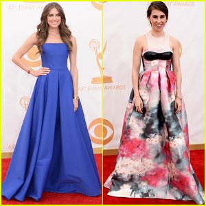 Allison Williams & Zosia Mamet - Emmys 2013 Red Carpet