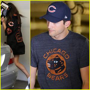 Ashton Kutcher & Mila Kunis: Chicago Bears Twosome!
