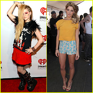 Avril Lavigne & Ashley Greene: iHeartRadio Music Fest Village!
