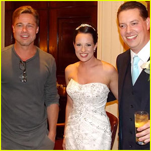 Brad Pitt Crashes Wedding in England, Was 'Really Nice!'