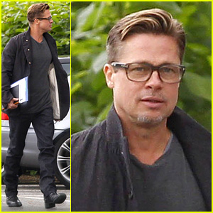 Brad Pitt Shows Off Short & Sexy Haircut!