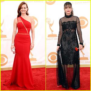 Carla Gugino & Amanda Peet - Emmys 2013 Red Carpet