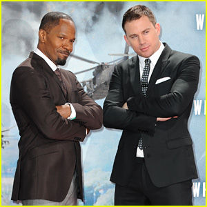 Channing Tatum & Jamie Foxx: 'White House Down' in Berlin!