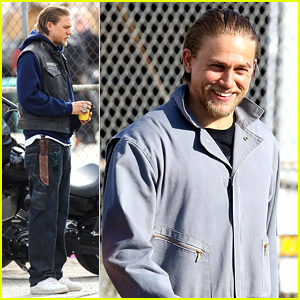 Charlie Hunnam Goes Undercover on 'Sons of Anarchy' Set