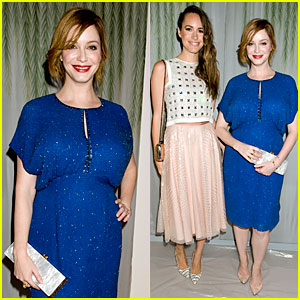 Christina Hendricks & Louise Roe: Jenny Packham Fashion Show!