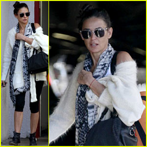 Demi Moore Continues Her Yoga Practice in Los Angeles