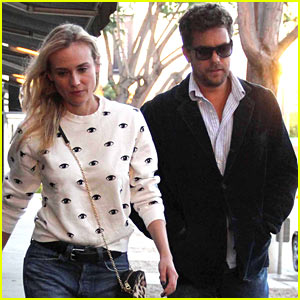 Diane Kruger & Joshua Jackson: Madeo Dinner Date in WeHo!
