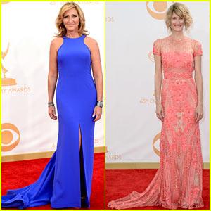 Edie Falco & Laura Dern - Emmys 2013 Red Carpet