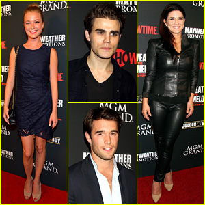 Emily VanCamp & Paul Wesley: Mayweather vs. Alvarez Fight!