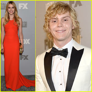 Emma Roberts & Evan Peters: Fox Emmys 2013 After Party!