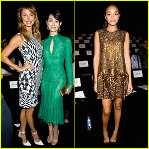 Emmy Rossum & Stacy Keibler: Monique Lhuillier Fashion Show!