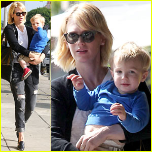 January Jones & Xander Are Breakfast Buddies in LA!