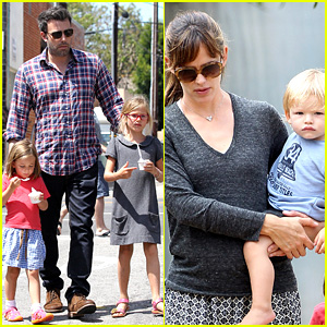 Jennifer Garner & Ben Affleck: Separate Outings with the Kids