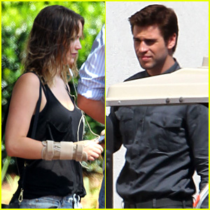 Jennifer Lawrence & Liam Hemsworth: 'Mockingjay' Filming!