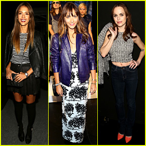 Jessica Alba & Rashida Jones: Charlotte Ronson Fashion Show!