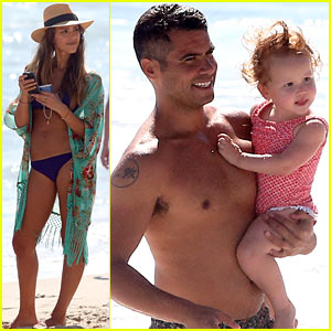 Jessica Alba Displays Toned Bikini Body for Family Beach Day!