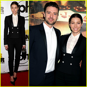 Justin Timberlake: 'Runner Runner' Premiere with Jessica Biel!