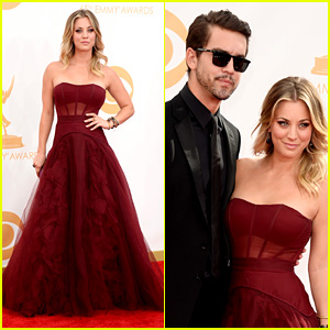 Kaley Cuoco & Ryan Sweeting - Emmys 2013 Red Carpet