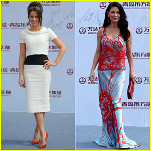 Kate Beckinsale & Catherine Zeta-Jones: Oriental Movie Metropolis Ceremony