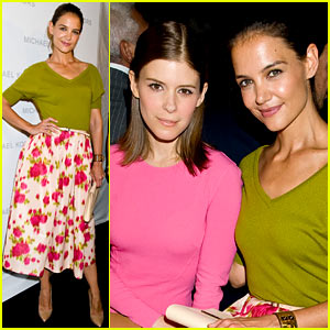 Katie Holmes: Michael Kors Fashion Show with Kate Mara!