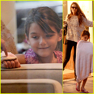 Katie Holmes Pampers Suri After She Breaks Her Arm