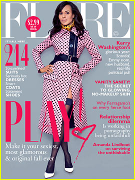 Kerry Washington Covers 'Flare' October 2013