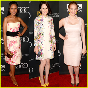 Kerry Washington & Michelle Dockery: BAFTA LA TV Tea Party!