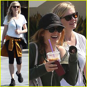 Kirsten Dunst & Isla Fisher Caffeinate After Gym Date!