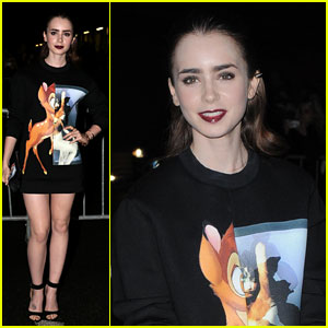 Lily Collins: Givenchy Fashion Show in Paris!