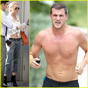Lindsay Lohan Bares Midriff, Matt Nordgren Goes Shirtless!