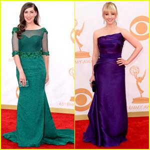 Mayim Bialik & Melissa Rauch - Emmys 2013 Red Carpet