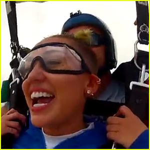 Miley Cyrus Skydives on Video - Watch Now!