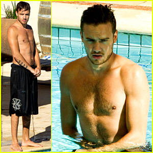 One Direction's Liam Payne: Shirtless Pool Boy in Australia!