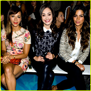 Rashida Jones & Emmy Rossum: Tory Burch Fashion Show!