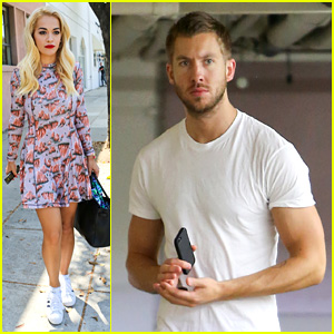 Rita Ora Visits the Salon After Studio Time with Calvin Harris