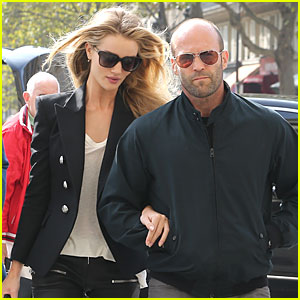 Rosie Huntington-Whiteley & Jason Statham Hook Arms in Europe