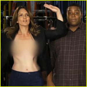 Tina Fey: Topless for 'Saturday Night Live' Promos!