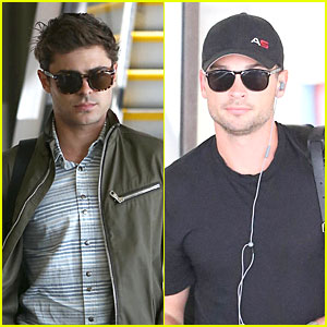 Zac Efron & Tom Welling: LAX Arrival After Toronto Film Festival!