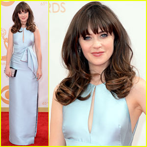 Zooey Deschanel - Emmys 2013 Red Carpet