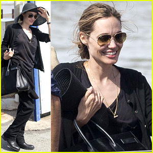 Angelina Jolie Wears Mysterious Ring on 'Unbroken' Work Trip
