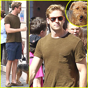 Armie Hammer: 'Man from U.N.C.L.E.' Break with Pet Pooch!