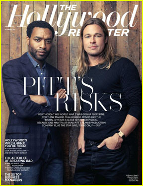 Brad Pitt Covers 'The Hollywood Reporter' with Chiwetel Ejiofor!