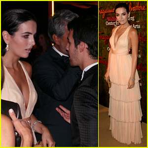 Camilla Belle & Joe Jonas Reunite at Annenberg Center Gala