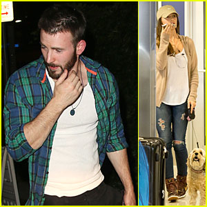 Chris Evans: Chateau Marmont Outing Sans Minka Kelly