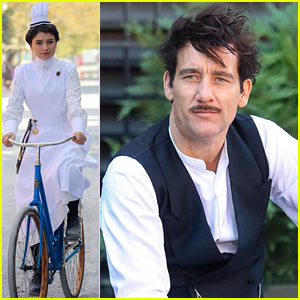 Clive Owen & Eve Hewson Film 'The Knick' in Period Costumes!