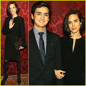 Jennifer Connelly: Artwalk NY Event with Son Kai!