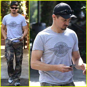 Jeremy Renner Goes Camouflage in West Hollywood