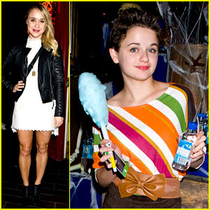 Joey King & Becca Tobin - Just Jared Halloween Party 2013