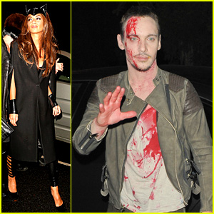 Jonathan Rhys-Meyers is Bloody Hot at Halloween Party!