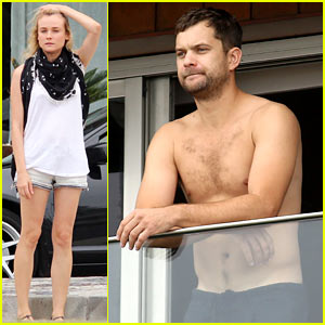 Joshua Jackson: Shirtless Before Day Out with Diane Kruger!